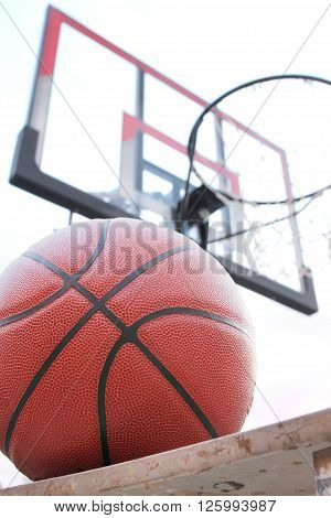Basketball outdoor court sport game, basketball concept, basketball idea, basketball background, basketball object, basketball close up, basketball equipment.