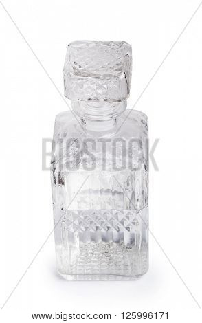 Vintage decanter isolated on white
