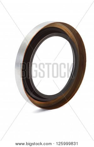 Oil seal isolated on white background .