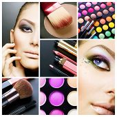 Makeup.Beautiful Make-up collage poster