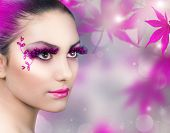 Beautiful Girl.Creative Fashion Makeup poster