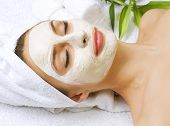 Spa facial clay mask poster