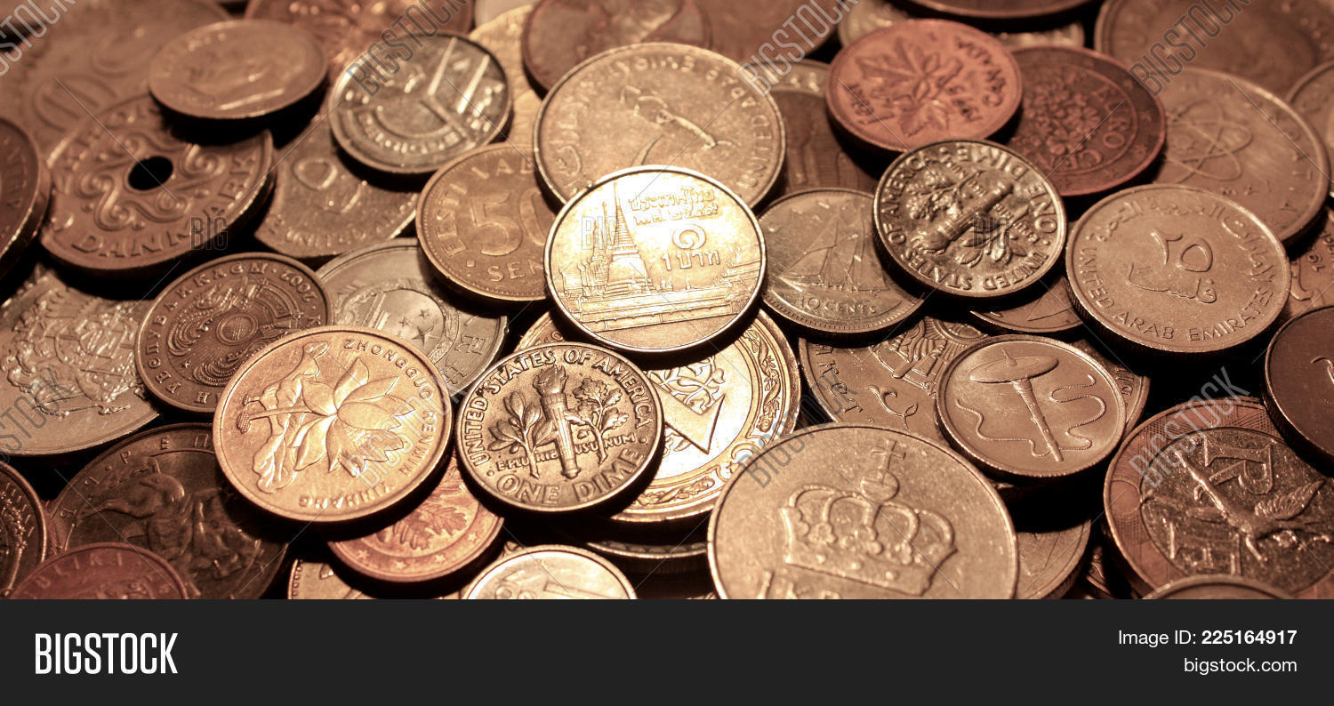 Background coins currencies image photo bigstock the currencies of different countries as a symbol of abundance of money biocorpaavc