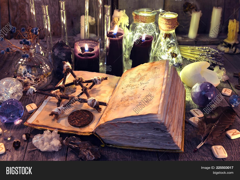 Open Book Black Magic Image & Photo (Free Trial) | Bigstock