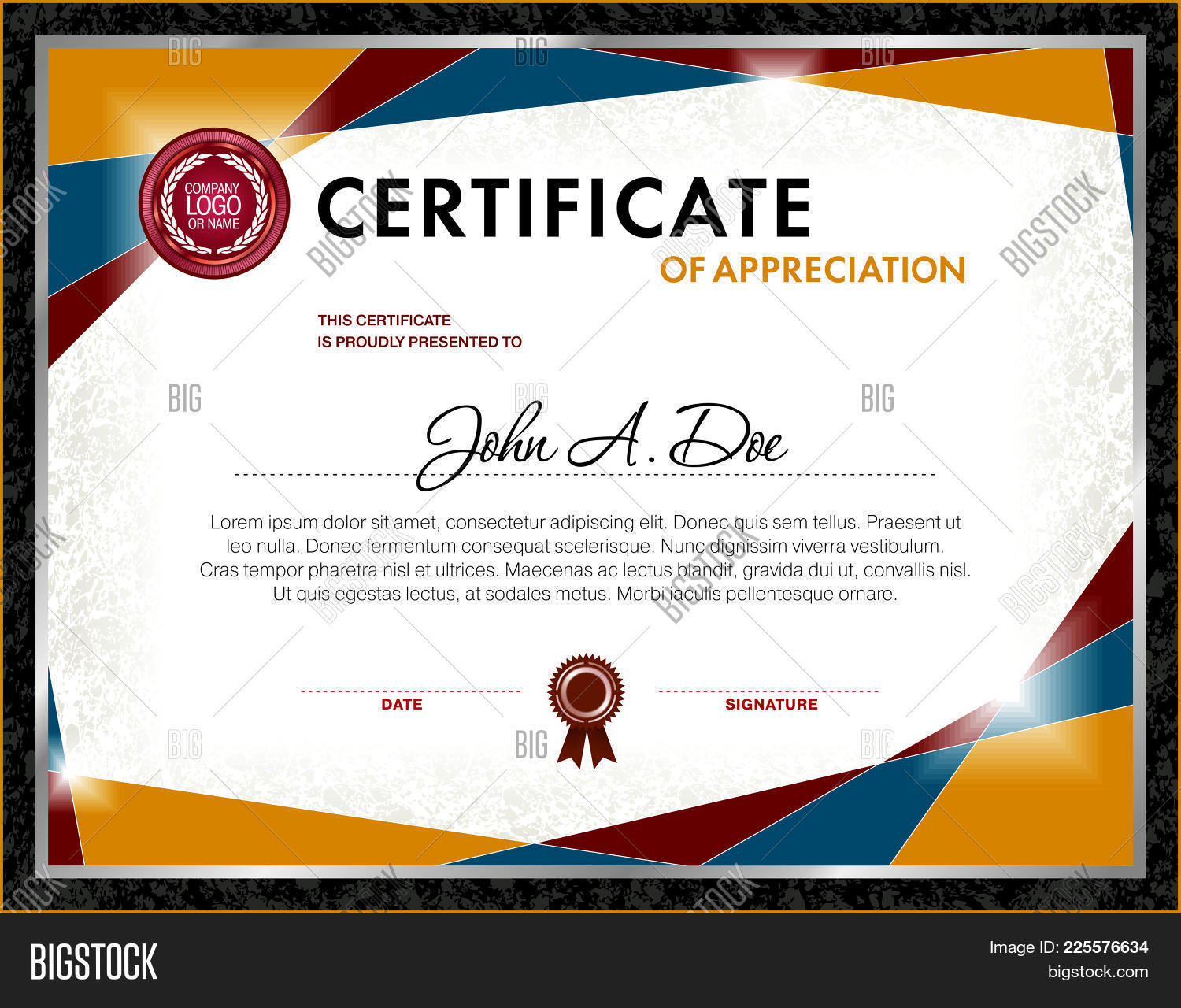 Certificate Vector & Photo (Free Trial) | Bigstock