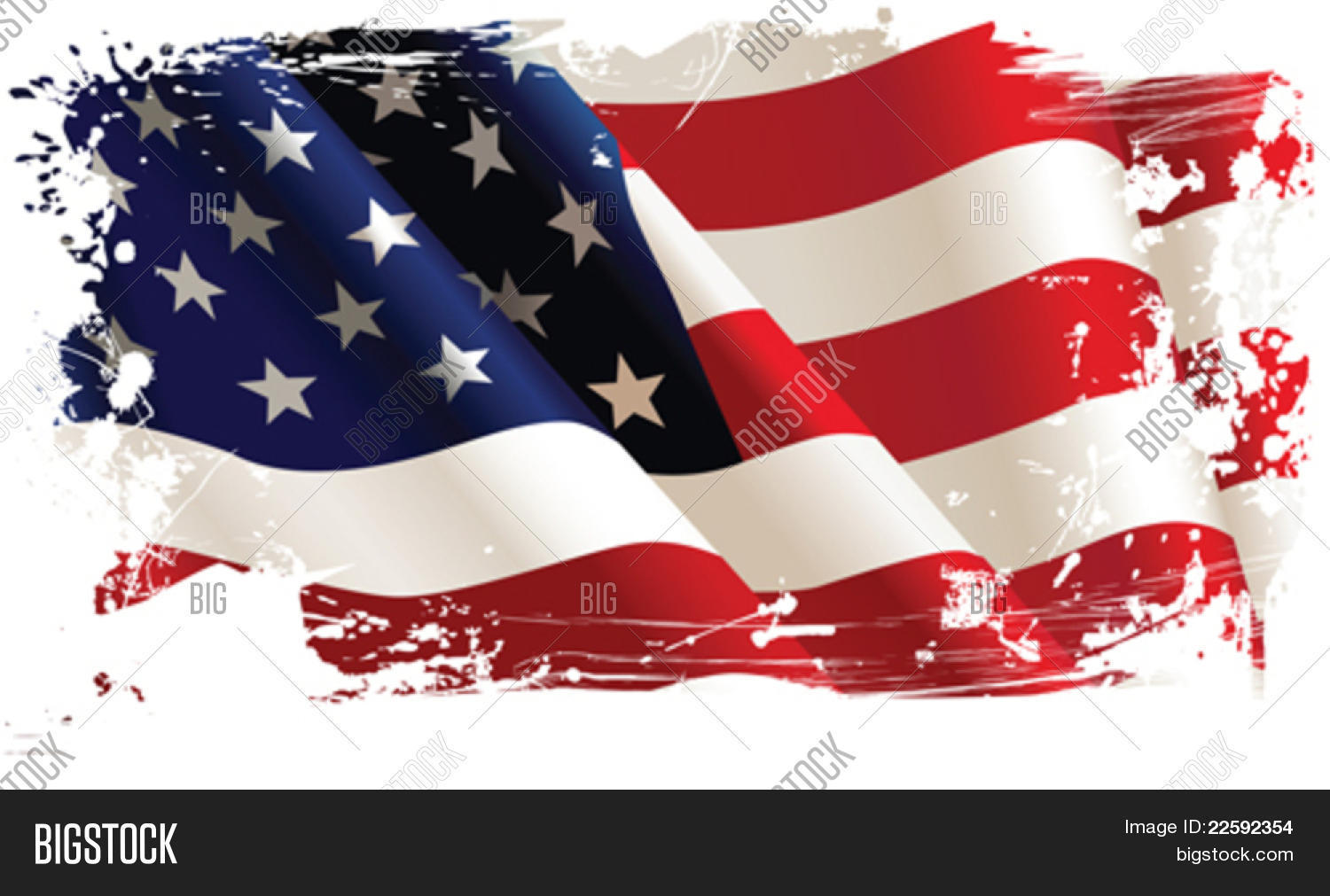 American Flag All Elements And Textures Are Individual Objects Vector Illustration Scale To Any