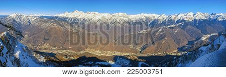 The all-season resort town is located in the village of Krasnaya Polyana in the vicinity of the city of Sochi. Here was created the media center of the XXII Olympic Winter Games.