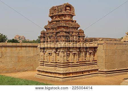 Hazara Rama Temple in Hampi, Karnataka, India. Unesco World Heritage Site. The famous tourist destination from GOA.