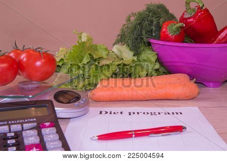 Cholesterol diet and healthy food eating nutritional concept with clean vegetables. Low-fat diet