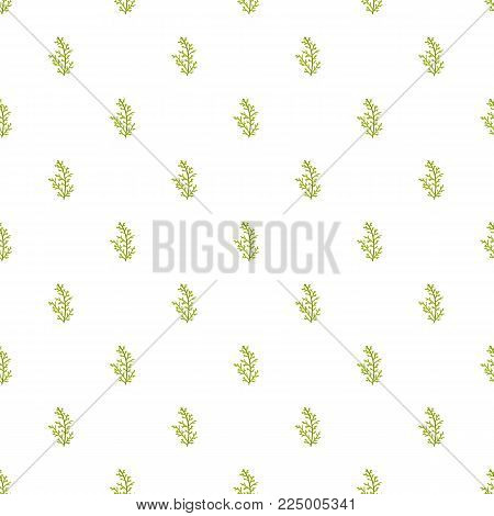 Cypress leaf pattern seamless in flat style for any design