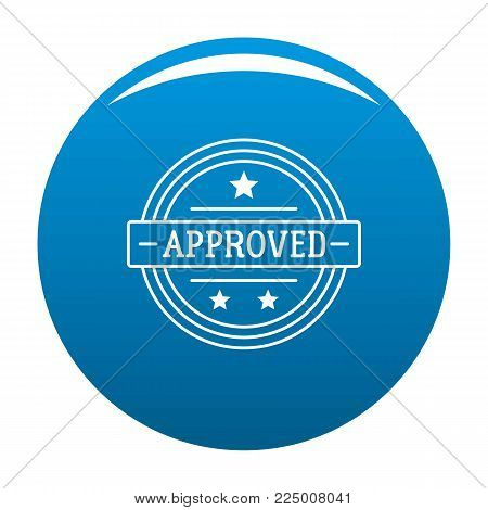 Approved logo. Simple illustration of approved vector logo for web