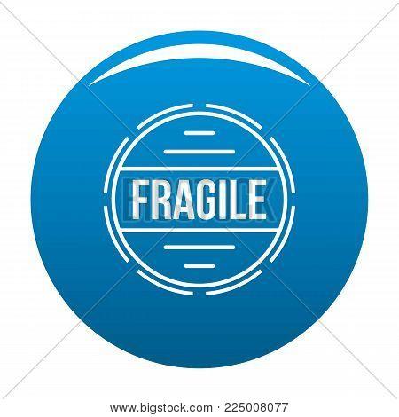 Fragile logo. Simple illustration of fragile vector logo for web
