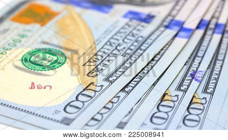 United States dollar banknotes. Cash money closeup photo. Currency background. Business success and profit concept. Salary or loan in cash. Corruption and cash payment. Company budget. Market share