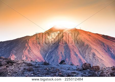 The Teide volcano in Tenerife. Spain. Canary Islands. The Teide is the main attraction of Tenerife. The volcano itself and the area that surrounds it form the Teide national Park.