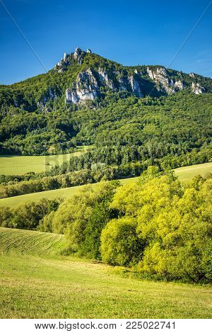 Summer landscape in The National Nature Reserve Sulov Rocks, Slovakia, Europe.