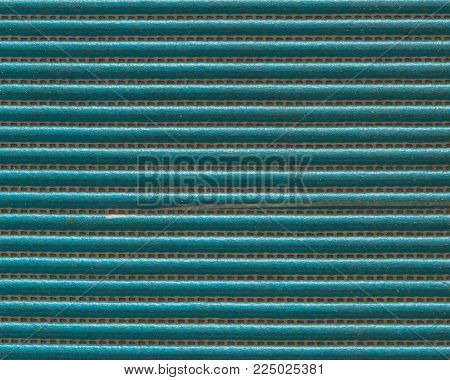 Texture Of Green Rubber Slip For Cleaning Foot