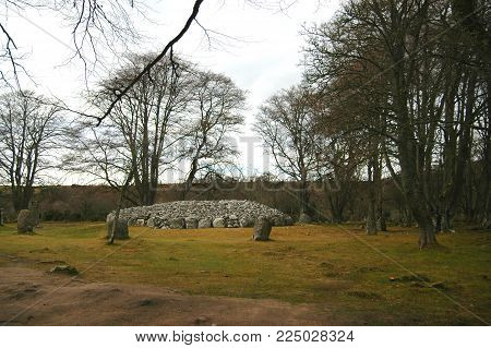 Clava Cairns burial chamber and stone circles, Inverness, Scotland