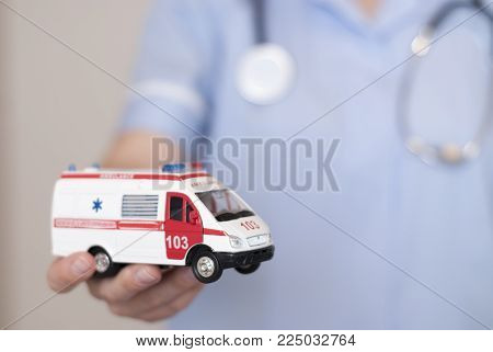 Woman Doctor Holding Pills