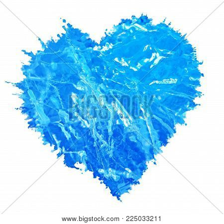 Love Heart . Blie Heart . Ice Shape. Heart Background . Love sign. Valentine's Day.