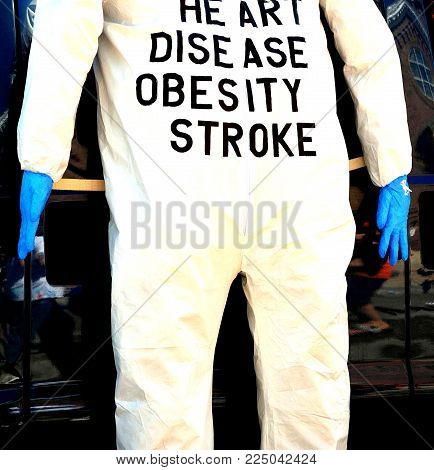 Dummy showing the many complications of being overweight.