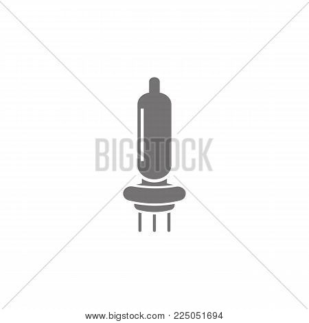 car bulb vector icon on white background