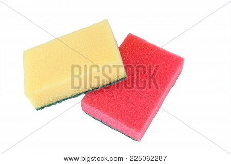two washcloths on a white background, isolated