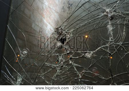 Background Of Grey Grunge Glass