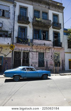 Buenos Aires, Argentina - January 20, 2018: Detail From Caminito Street In La Boca, Buenos Aires, Ar