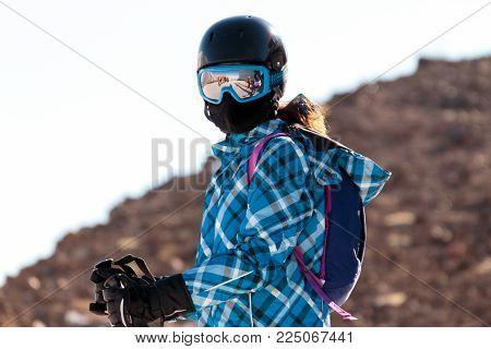 Winter season landscape People and scenery skiing