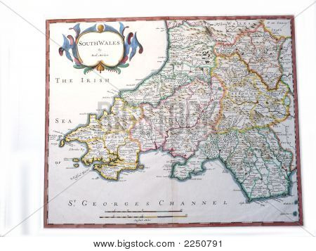 Robert Morden Map Of South Wales