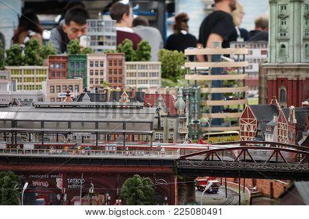 Hamburg, Germany - 9-27-2017: Miniature Wonderland in Hamburg, Germany