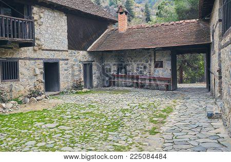 Agios Ioannis St John Lambadistis monastery UNESCO World Heritage Site , Marathasa valley.