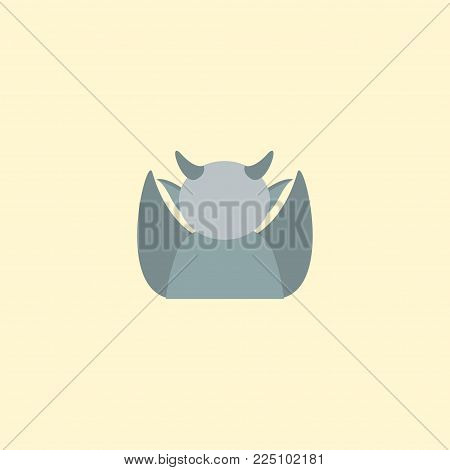 Gargoyle icon flat element. Vector illustration of gargoyle icon flat isolated on clean background for your web mobile app logo design.