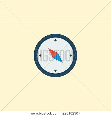 Compass icon flat element. Vector illustration of compass icon flat isolated on clean background for your web mobile app logo design.