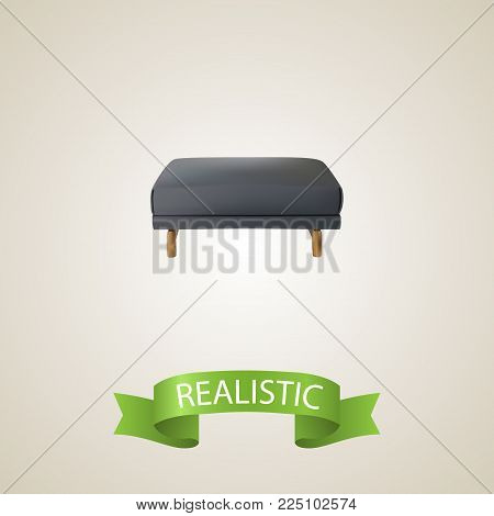 Pouf realistic element. Vector illustration of pouf realistic isolated on clean background for your web mobile app logo design.