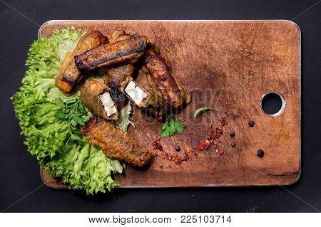 Paneer Kabab Indian cheese skewers or barbecue paneer