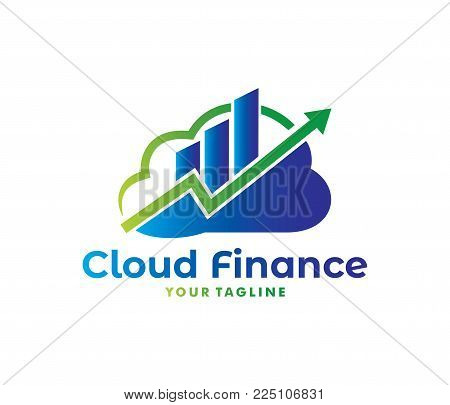 Vector Finance Stock Exchange Management Cloud Online Cloud Storage Logo Design