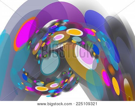 Abstraction modern circle and colorful on space,Abstract background of cyber and imagination to time machine in the future,Vector illustration abstract space for printing and magazine art background.