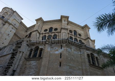 Cathedral Of The Incarnation In Malaga, Spain, Europe