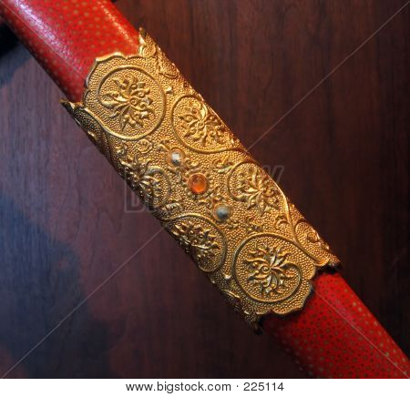 decorated sheath of a sword also called scabbard poster