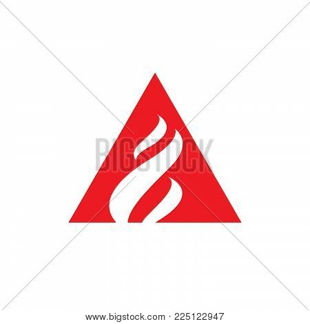 Flame Logo Vector Template Fire Design Graphic Torch Element Hot