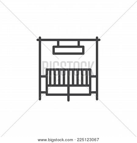 Ranch gate line icon, outline vector sign, linear style pictogram isolated on white. Symbol, logo illustration. Editable stroke