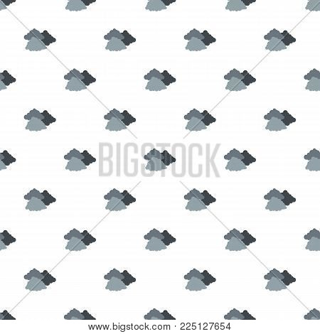 Dark cloudy pattern seamless in flat style for any design