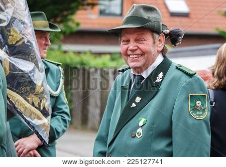 MOERS, GERMANY - JUNE 20, 2015: Marksmen's enjoying their traditional festival