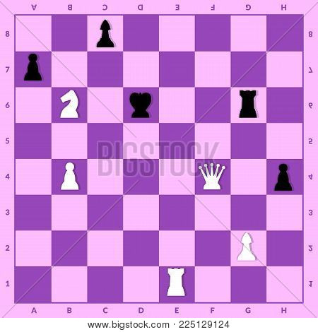 Stalemate setup in chess. Game for brain evolving
