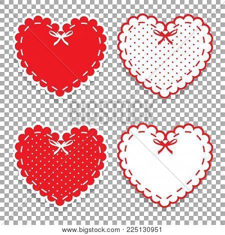Girly Scrapbook Design Elements. Vector Valentines Day Or Love Wedding Stickers, Clip Art, Details F