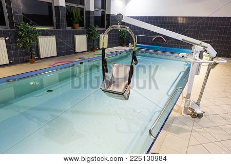 WISLA, POLAND - OCTOBER 23, 2105: Hydrotherapy pool at the rehabilitation center for the disabled in Wisla, Poland