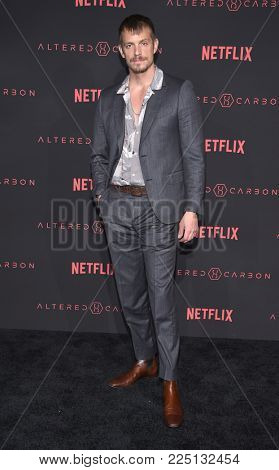 LOS ANGELES - FEB 01:  Joel Kinnaman arrives for the Netflix's 'Altered Carbon' Season 1 Premiere on February 1, 2018 in Los Angeles, CA