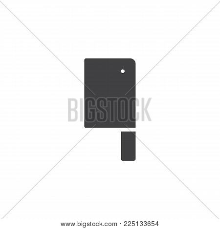 Kitchen ax icon vector, filled flat sign, solid pictogram isolated on white. Meat axe symbol, logo illustration.