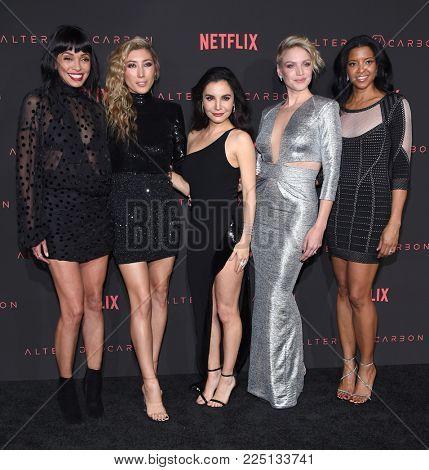 LOS ANGELES - FEB 01:  Tamara Taylor, Dichen Lachman, Martha Higareda, Kristin Lehman,Renee Elise Goldsberry arrives to Netflix's 'Altered Carbon' Season 1 Premiere on February 1, 2018 Los Angeles, CA